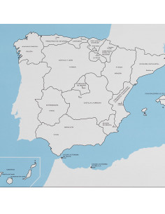 Spain Control Map Labeled