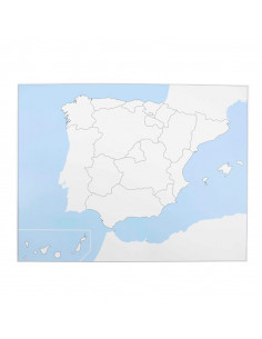 Spain Control Map Unlabeled