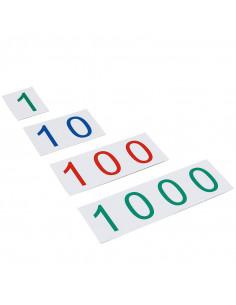 Tarjetas grandes 1-1000